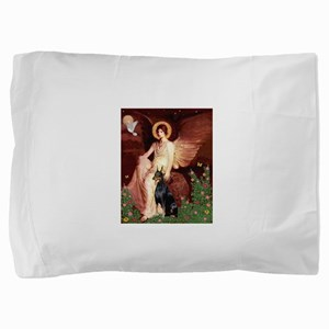 Seated Angel & Dobie Pillow Sham